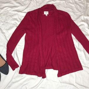 St. John's Bay dark red cardigan